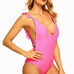 🆕🌴 Barbie pink ruffle swimsuit